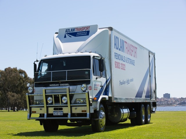 Truck used for interstate removals in Perth