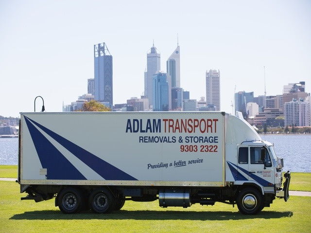 Part of Adlam's transport fleet